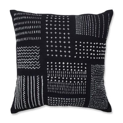 """16.5""""x16.5"""" Geometric Print Throw Pillow Black/White - Pillow Perfect"""