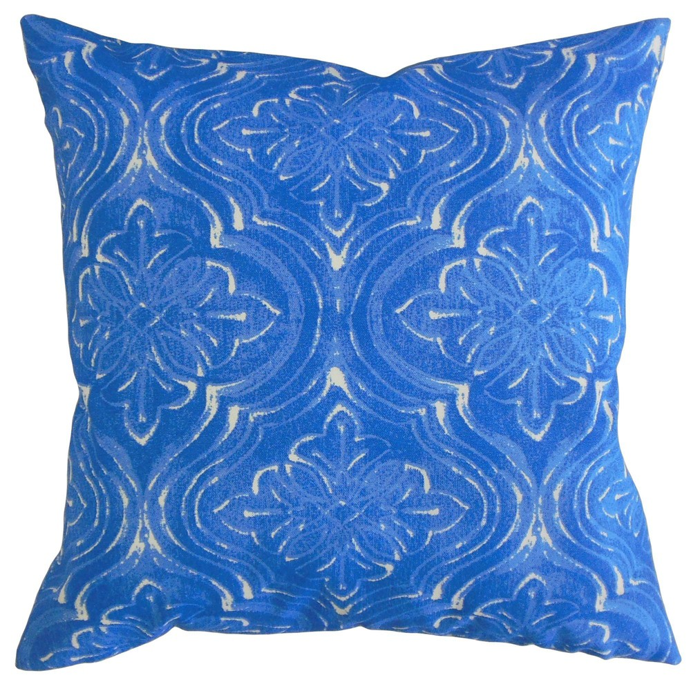 Damask Throw Pillow Admiral - The Pillow Collection Pattern: Geometric.