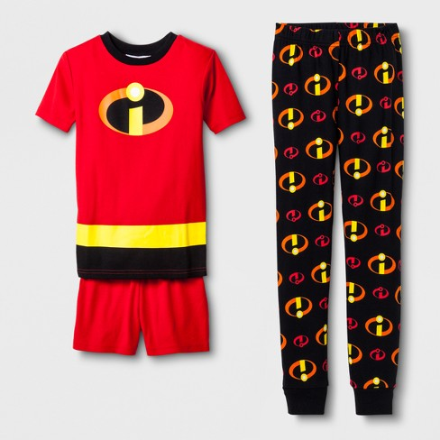 Boys' The Incredibles 3pc Pajama Set - Red - image 1 of 1