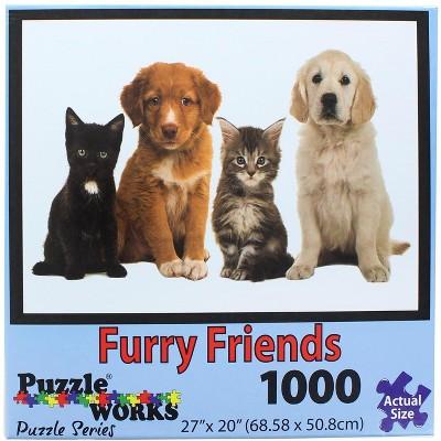 PuzzleWorks 1000 Piece Jigsaw Puzzle | Furry Friend