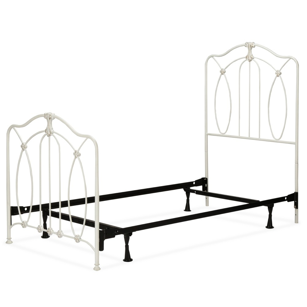 Kaylin Complete Kids Bed with Metal Duo Panels Soft White Twin - Fashion Bed Group, Snowflake