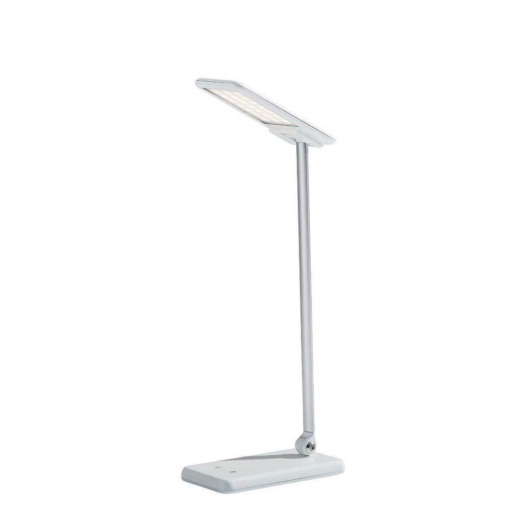 17 34 Rocco Led Multi Function Desk Lamp Includes Energy Efficient Light Bulb White Adesso