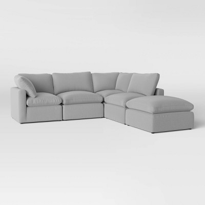 5pc Allandale Modular Sectional Sofa Set Gray - Project 62™