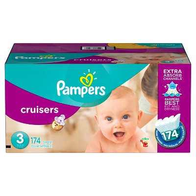 Pampers Cruisers Diapers Economy Plus Pack Size 3 (174 ct)
