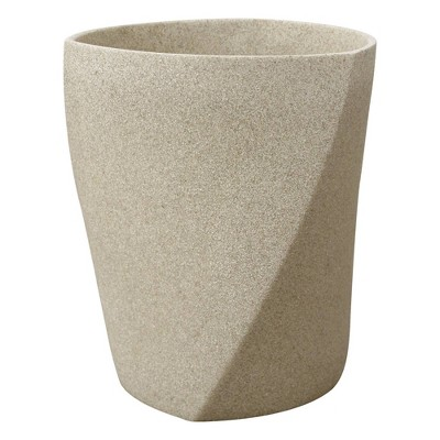 Resin Geo Stone Wastebasket Natural - Allure