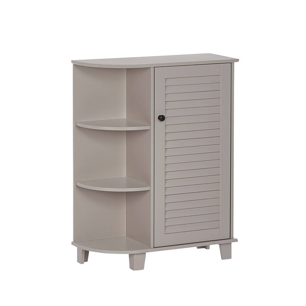 Ellsworth Floor Cabinet With Side Shelves Taupe Riverridge Home