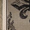 Black Fleur De Lis Stripe Jacquard Table Runner - Design Imports - image 2 of 4