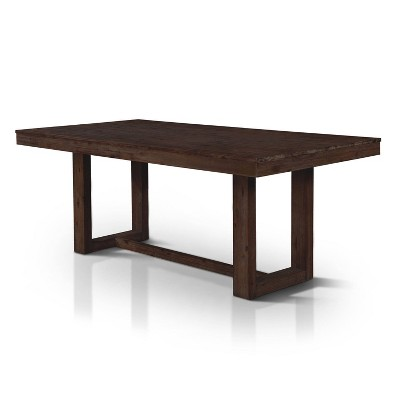 """78"""" Cayne Plank Style Dining Table Dark Oak - HOMES: Inside + Out"""