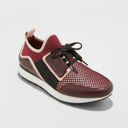 4113c8fad7066c Women s Deena Lace Up Sneakers - A New Day™ Burgundy   Target