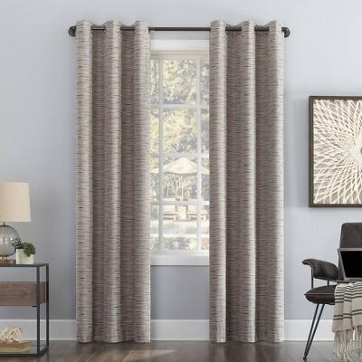 Denver Distressed Striped Thermal Extreme 100% Blackout Grommet Curtain Panel - Sun Zero