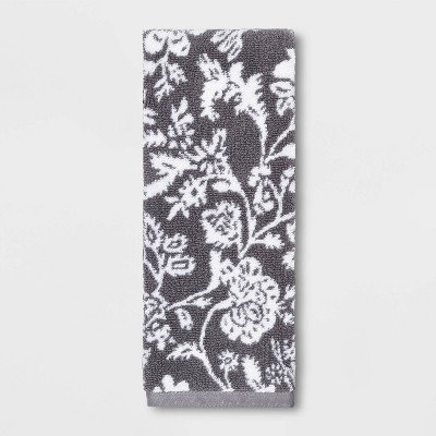 Performance Hand Towel Radiant Gray Floral - Threshold™