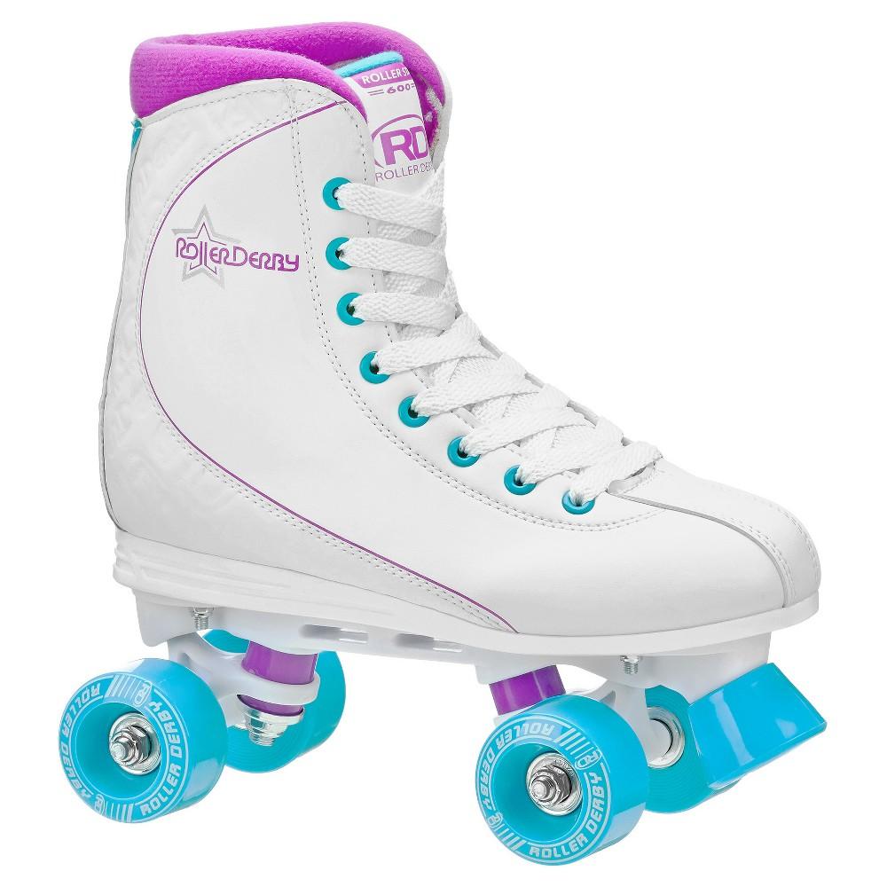 Roller Derby Women's Roller Star 600 Quad Roller Skates (6), Blue Pink White