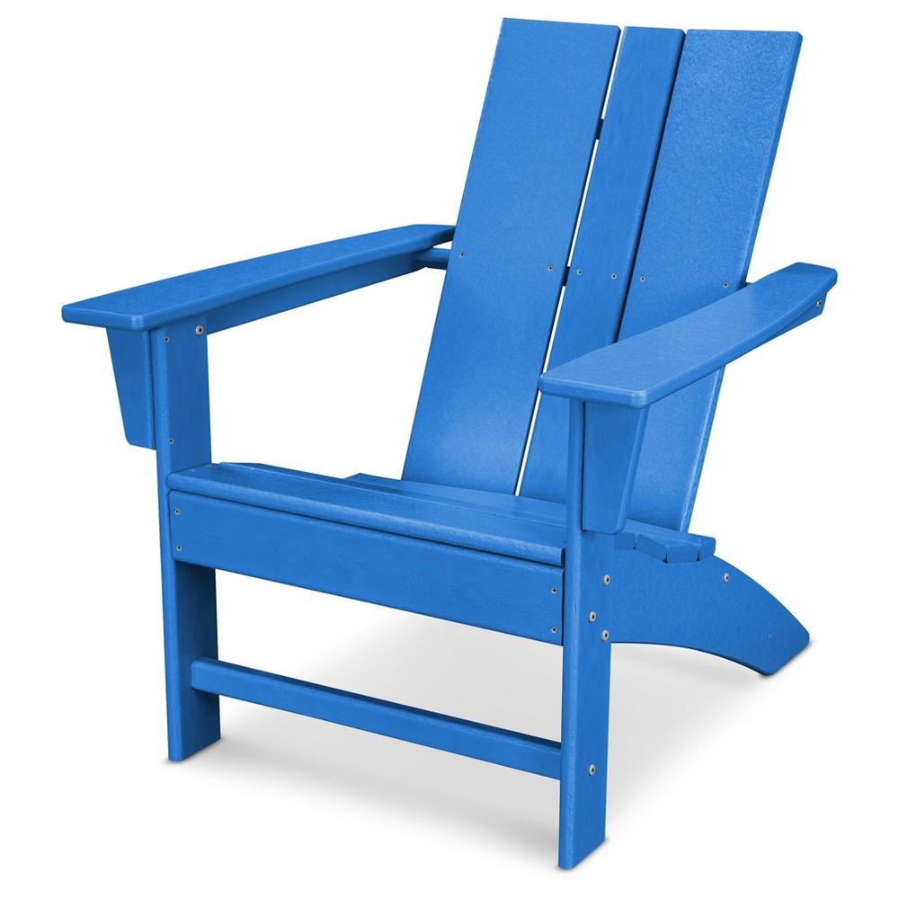 Polywood St Croix Modern Adirondack - Pacific Blue