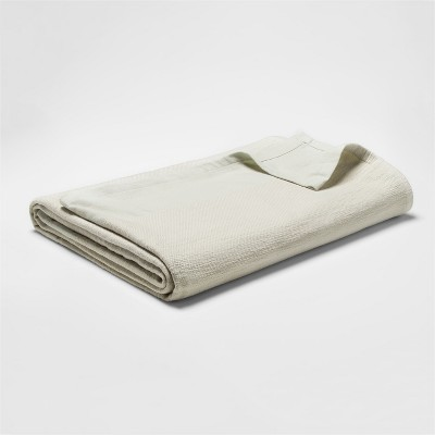 Woven Bed Blanket (Twin)Green - Threshold™