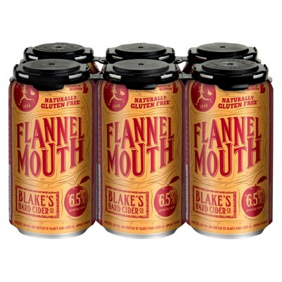 Blake's Flannel Mouth Hard Cider - 6pk/12 fl oz Cans