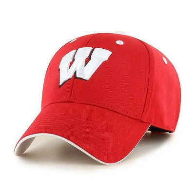 NCAA Wisconsin Badgers Men's Red Cotton Structured Hat