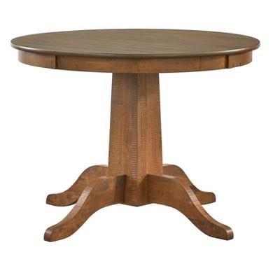 Athens Round Dining Table Walnut - Lifestorey