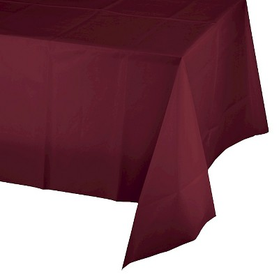 Burgundy Red Disposable Tablecloth
