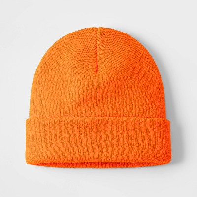 Boys' Cuffed Beanie - Cat & Jack™ Orange
