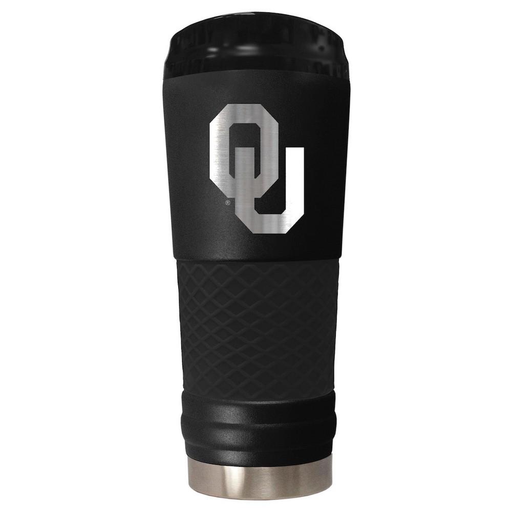 NCAA Oklahoma Sooners 24oz Stealth Black Matte Tumbler