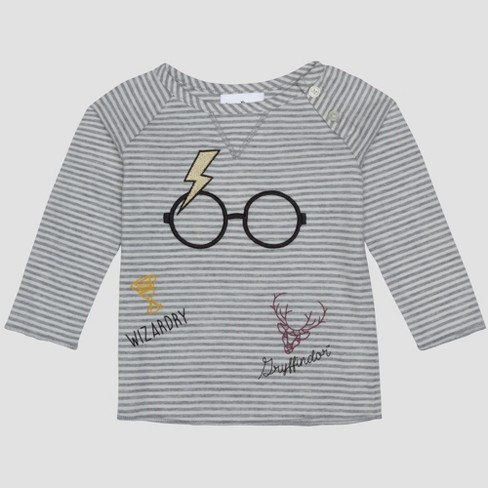 1d6d1296478e Baby Boys  Harry Potter 2pc Long Sleeve T-Shirt And Footed Joggers With  Kangaroo Pocket Set - Gray   Target