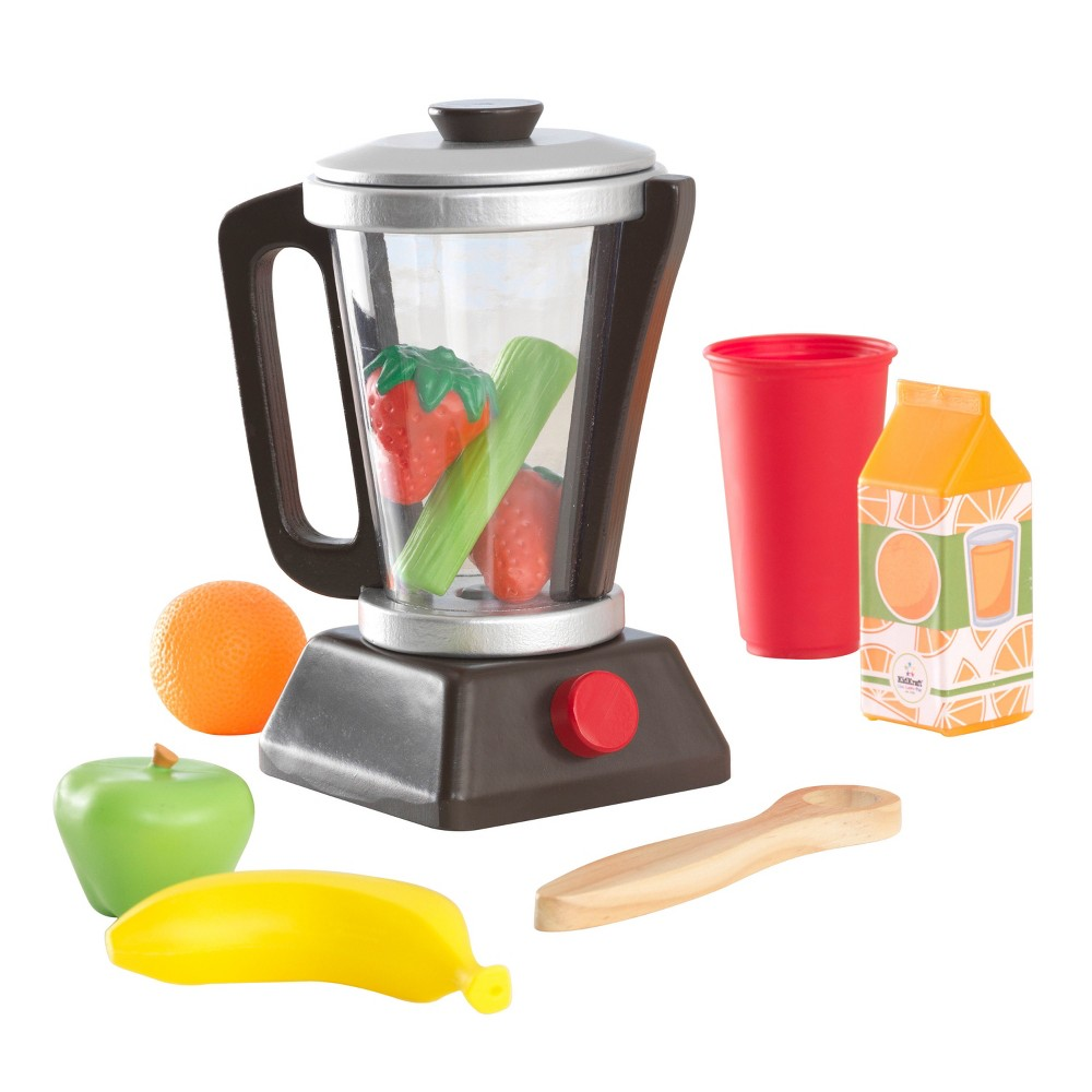 KidKraft Espresso Smoothie Set It's never too early to learn about nutrition. The KidKraft Espresso Smoothie Set comes with everything kids need to create their own imaginative smoothies. Lift the lid off the wood and plastic blender, add in some of the included pretend fruits, vegetables and juice, and get ready to blend up some fun. Gender: Unisex.