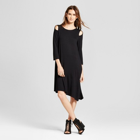 Women's Asymmetrical Cut Out Dress - Alison Andrews®  Black - image 1 of 2