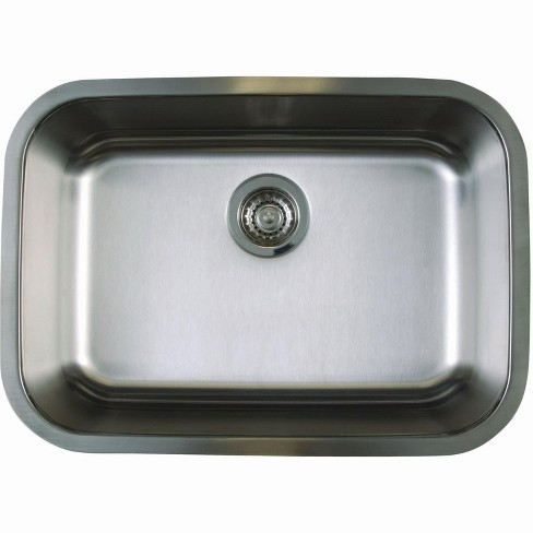 Blanco 441025 Stellar Medium Single Bowl Stainless Steel Undermount Kitchen  Sink 25\