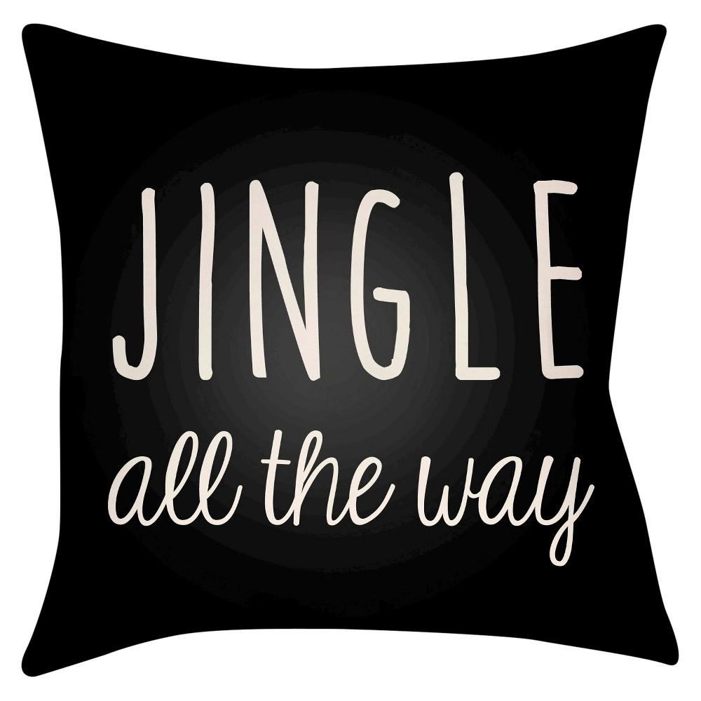 White Jingle Throw Pillow 20