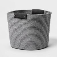 Threshold 13 Inch Decorative Coiled Rope Basket (Gray)