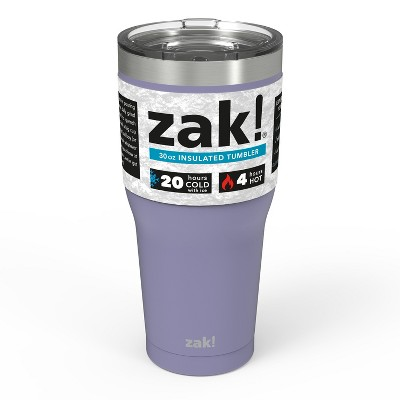 Zak! Designs 30oz Double Wall Stainless Steel Tumbler - Lavender