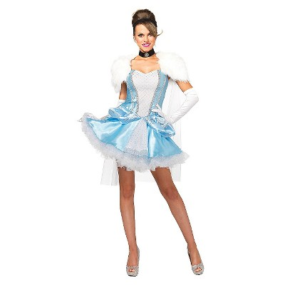 Adult Disney Princess Cinderella Slipperless 3pc Halloween Costume