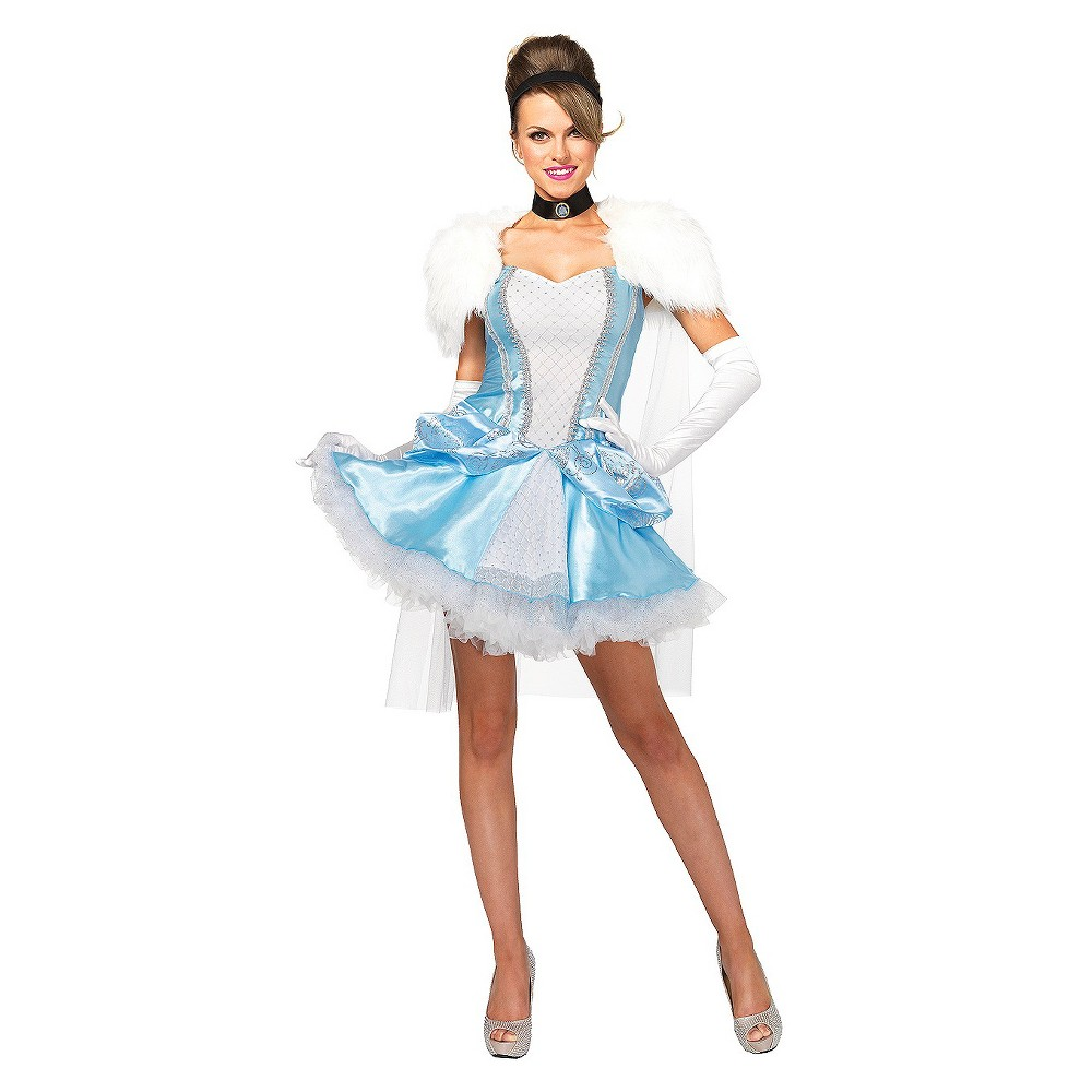 Image of Halloween Disney Princess Cinderella Women's Slipperless 3 Piece Costume Small, Women's, Blue