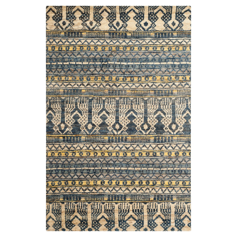 Blue Geometric Knotted Area Rug - (8'X10') - Safavieh