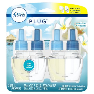 Febreze Plug Bora Bora Waters Air Freshener Refills - 2ct - 1.75oz
