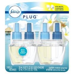 Febreze Plug Air Freshener Scented Oil Refill Bora Bora Waters - 2ct