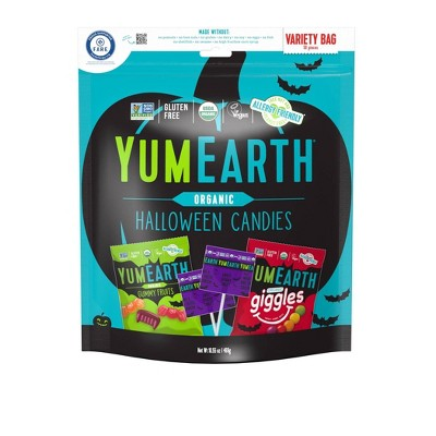 Yum Earth Halloween Organic Candies Variety Pack - 16.55oz