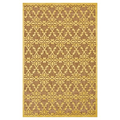 "7'6""X10'6"" Quatrefoil Design Loomed Area Rugs Tan/Yellow - Weave & Wander"