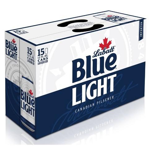 Labatt Blue Light Canadian Pilsener Beer - 15pk/12 fl oz Cans - image 1 of 2