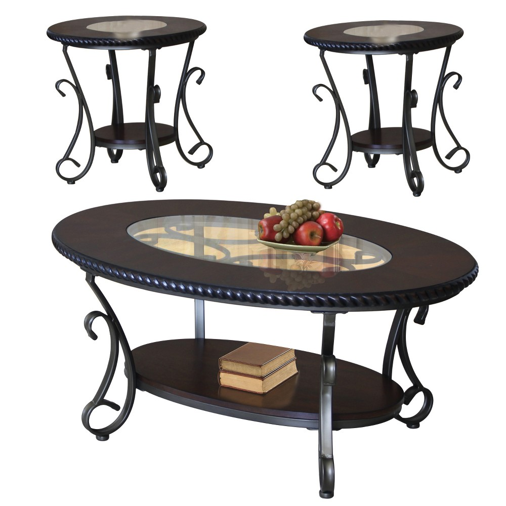 Coffee Table Set Black Set Of 3 - Home Source Industries