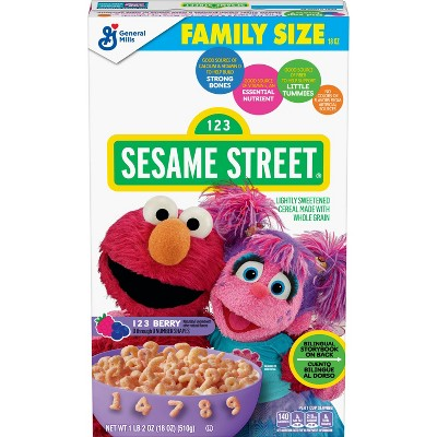Sesame Street 123 Berry Family Size Cereal - 18oz - General Mills