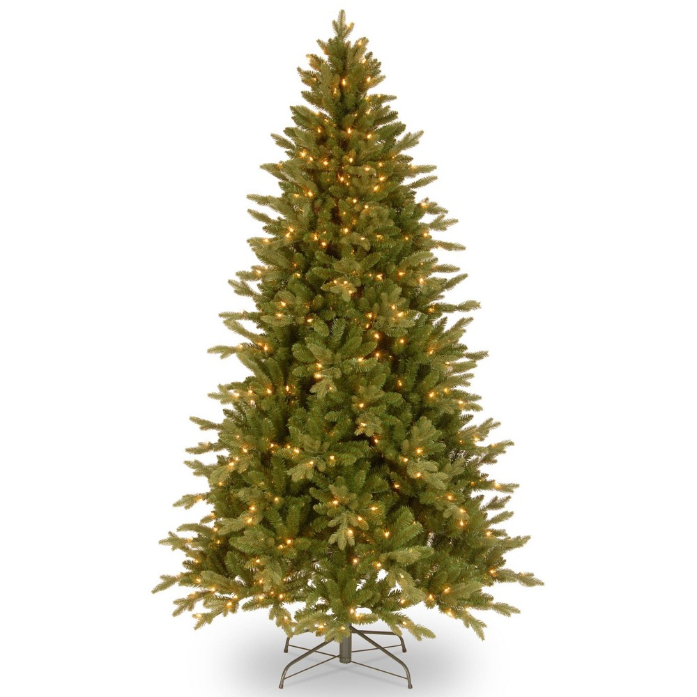 6.5ft National Christmas Tree Company Avalon Spruce Medium Artificial Christmas Tree 400ct Clear