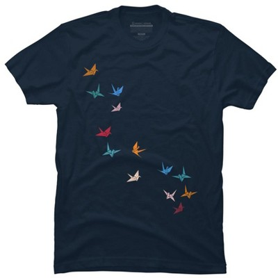Flying Paper Cranes Birds Mens Graphic T-Shirt - Design By Humans