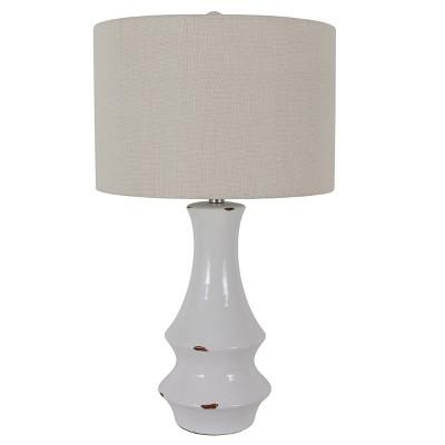 "30"" Ceramic Callie Table Lamp White - Decor Therapy"
