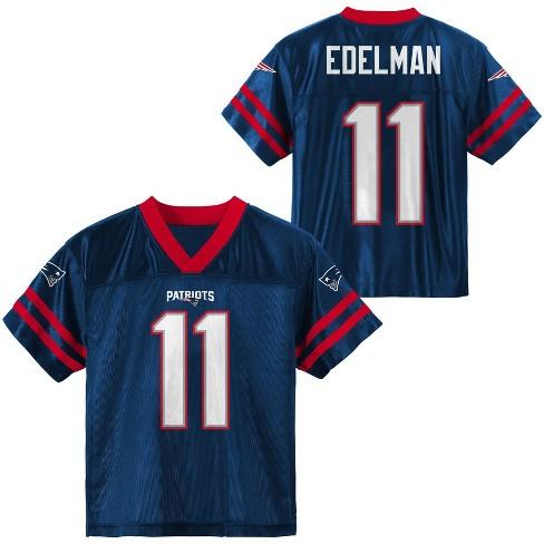 NFL New England Patriots Boys' Julian Edelman Short Sleeve Jersey - M