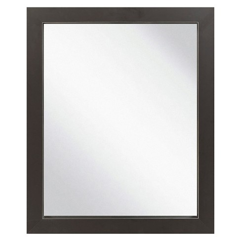 Rectangle Chatwyn Decorative Wall Mirror Black - Surya - image 1 of 2