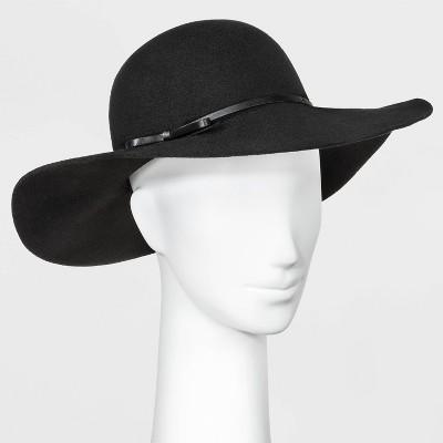 Women's Felt Floppy Hat - A New Day™ Black One Size