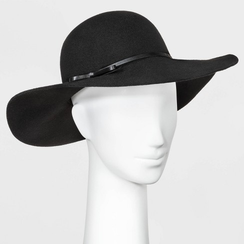 Women's Floppy Hat - A New Day™ Black One Size - image 1 of 1