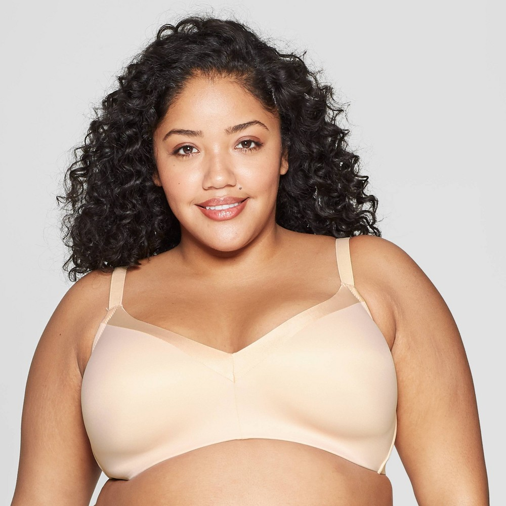 Women's Plus Size Wirefree Bra - Auden Pearl Tan 42C