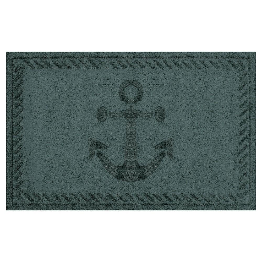Evergreen (Green) Abstract Doormat - (2'X3') - Bungalow Flooring